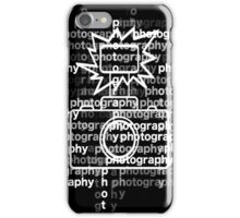 Photography text_camera_02 iPhone Case/Skin