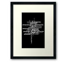 Photography text_camera_02 Framed Print