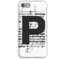 Photography text_07 iPhone Case/Skin
