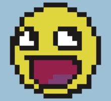 Awesome MEME face  - 8 bit Kids Clothes