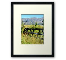 Wire and Fence Framed Print