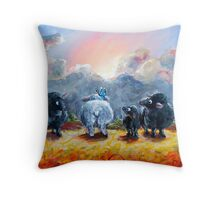 The Black Sheep of the Family Throw Pillow
