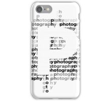 Photography text_06 iPhone Case/Skin