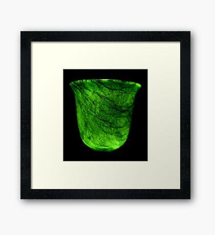 Dark & Alone - What Is It? - Jade Drinking Tumbler Framed Print