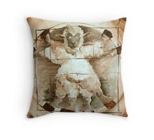 Baaa Vinci Throw Pillow