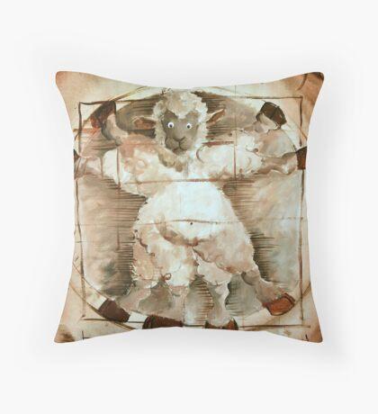 Baaa Vinci Throw Pillow