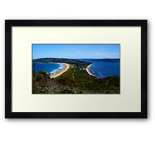 Tombolo - Palm Beach - Sydney - Australia Framed Print