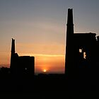Tin mines at sunset by John Keates