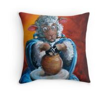 Hairy Potter Throw Pillow