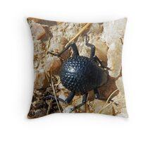 Namib Desert Bettle Throw Pillow