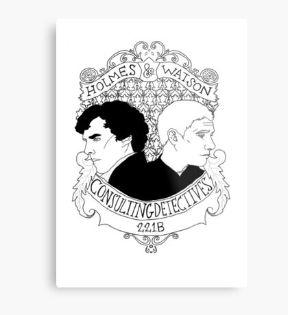 Consulting Detectives Metal Print