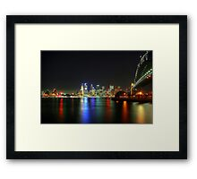 Sydney At Night - HDR Framed Print