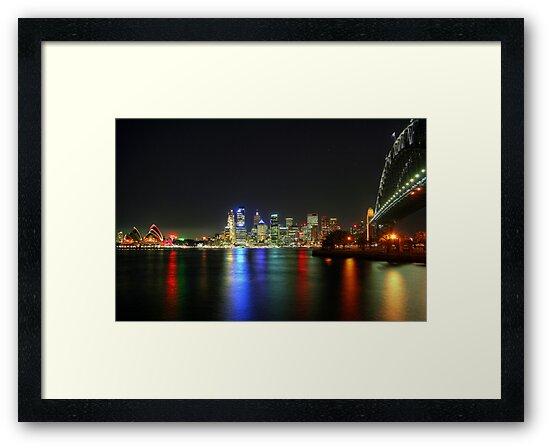 Sydney At Night - HDR by Bryan Freeman
