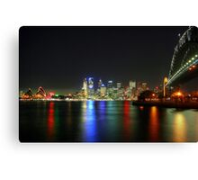 Sydney At Night - HDR Canvas Print