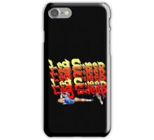 Street Fighter 2:  Leg Sweep Edition iPhone Case/Skin