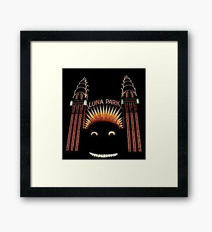 Looney Park - Luna Park at Night - Sydney - Australia Framed Print