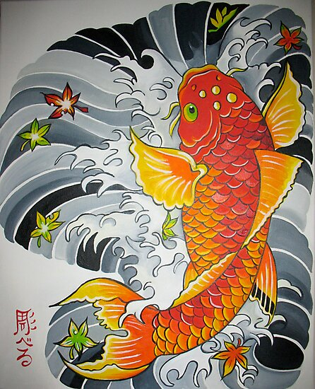 Lucky Koi Fish by CrystalWegner