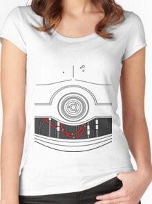 C-3P0 Women's Fitted Scoop T-Shirt