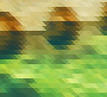 Emerald green and brown triangle pattern by Thubakabra