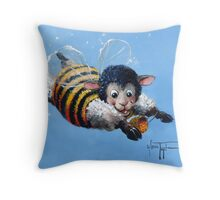 Bumble Baaa Throw Pillow