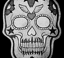 Day of the Dead Silver Pixelated  by saggiemick