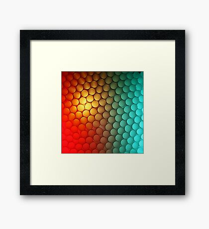 It's That Red & Green Again (with some yellow) Framed Print