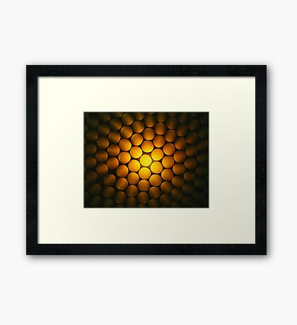 Golden Honeycomb Framed Print
