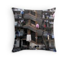 Police Apartments - North Chengdu Rd - Shanghai, China Throw Pillow