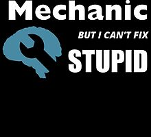 I MIGHT BE A MECHANIC BUT I CAN'T FIX STUPID by fandesigns