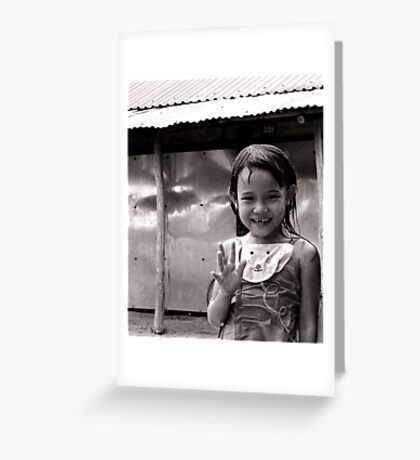 A wave hello Greeting Card