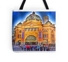 Busy Flinders Street Station Tote Bag