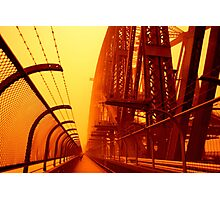 The Red Walk - SYDNEY DUST STORM Photographic Print