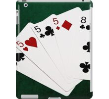 Poker Hands - Four Of A Kind - Fives and Eight iPad Case/Skin
