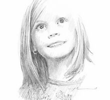 Chuck-E-Cheese photo girl drawing by Mike Theuer
