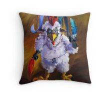 Bird Flu Throw Pillow