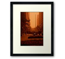 Waiting For The RED Light. Sydney. Australia Framed Print