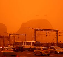 The Red Centre Comes To The Sydney Harbour Bridge by Bryan Freeman