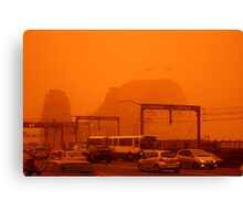 The Red Centre Comes To The Sydney Harbour Bridge Canvas Print