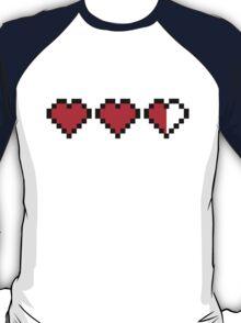 8BIT  Videogame Life indicators T-Shirt