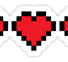 8BIT  Videogame Life indicators Sticker