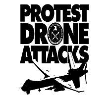 Protest Drone Attacks Photographic Print