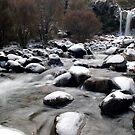 Winter waterfall by Paul Mercer