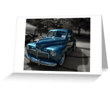 1942 Ford Tudor Coupe Greeting Card