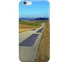 Country road into nothing particular | landscape photography iPhone Case/Skin