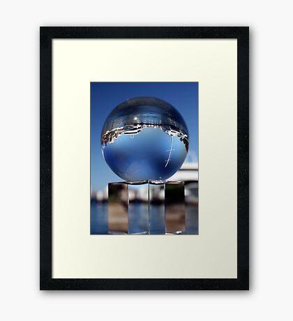 The Deep Blue Framed Print