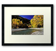 Autumn colours, Arrowtown Framed Print