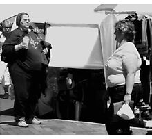 After dieting, the chief excitement of a woman's life is spotting women who are bigger than she is. Photographic Print