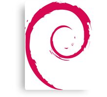 Debian Red Canvas Print