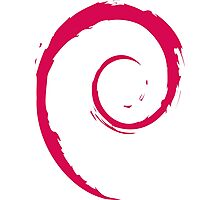 Debian Red Photographic Print