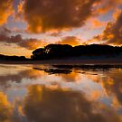 Sunset at Rarawa Beach, Northland by Paul Mercer